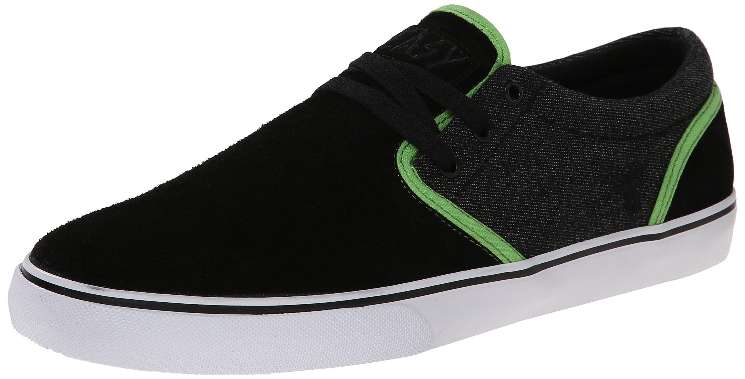 Fallen Men's The Easy Skateboard Shoe, Black/Psych Green, 11 M US by Fallen