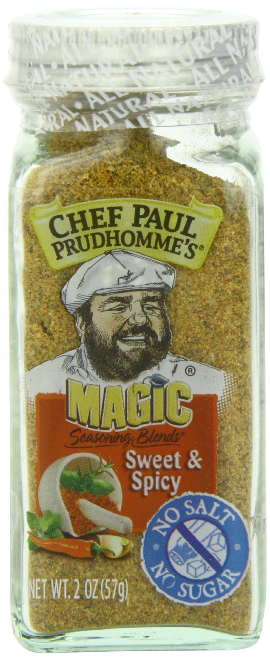 Chef Paul Prudhomme's Magic Seasoning Blends No Salt & No Sugar, Sweet and Spicy, 2-Ounce