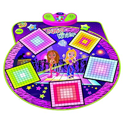 Dance Mixer Electronic Playmat - Touch-Sensitive Design with Background Music- Adjustable Music Tempo Setting ,Plug in Music: Toys & Games