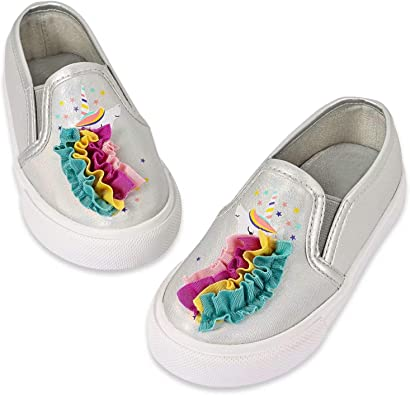 Girls Sneakers Toddler Slip On Loafers Shoes Comfortable Unicorn Glitter Boat Flats Shoes for Kids
