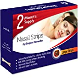 Nasal Strips Large (60 Strips/£0.23 each) by Sleepeze Remedies® - PREMIUM QUALITY Anti Stop Snoring & Sleeping Aids that Support a Better Night's Sleep - These Nasal Dilators Are Ideal for People Suffering from Sleep Apnea, Nasal Congestion, Insomnia and Laboured Breathing Difficulties - Fits Medium and Large Size Noses - Buy 2 Get FREE Delivery