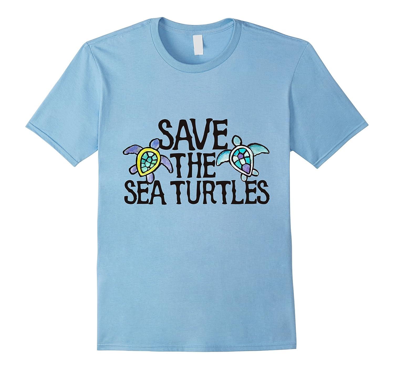 Save the sea turtles t-shirt Sea turtle lover tee shirts-PL