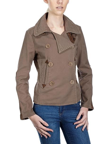 Timberland Abrigo easy fit para mujer, talla 38, color Marrón (Thatch)