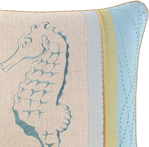 C F Home Natural Shells Seahorse Pillow 18×18