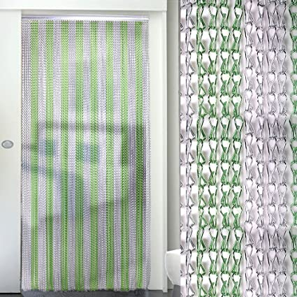 Aluminium Metal Chain Link Insect Fly Door Curtain Blinds Screen Pest Control