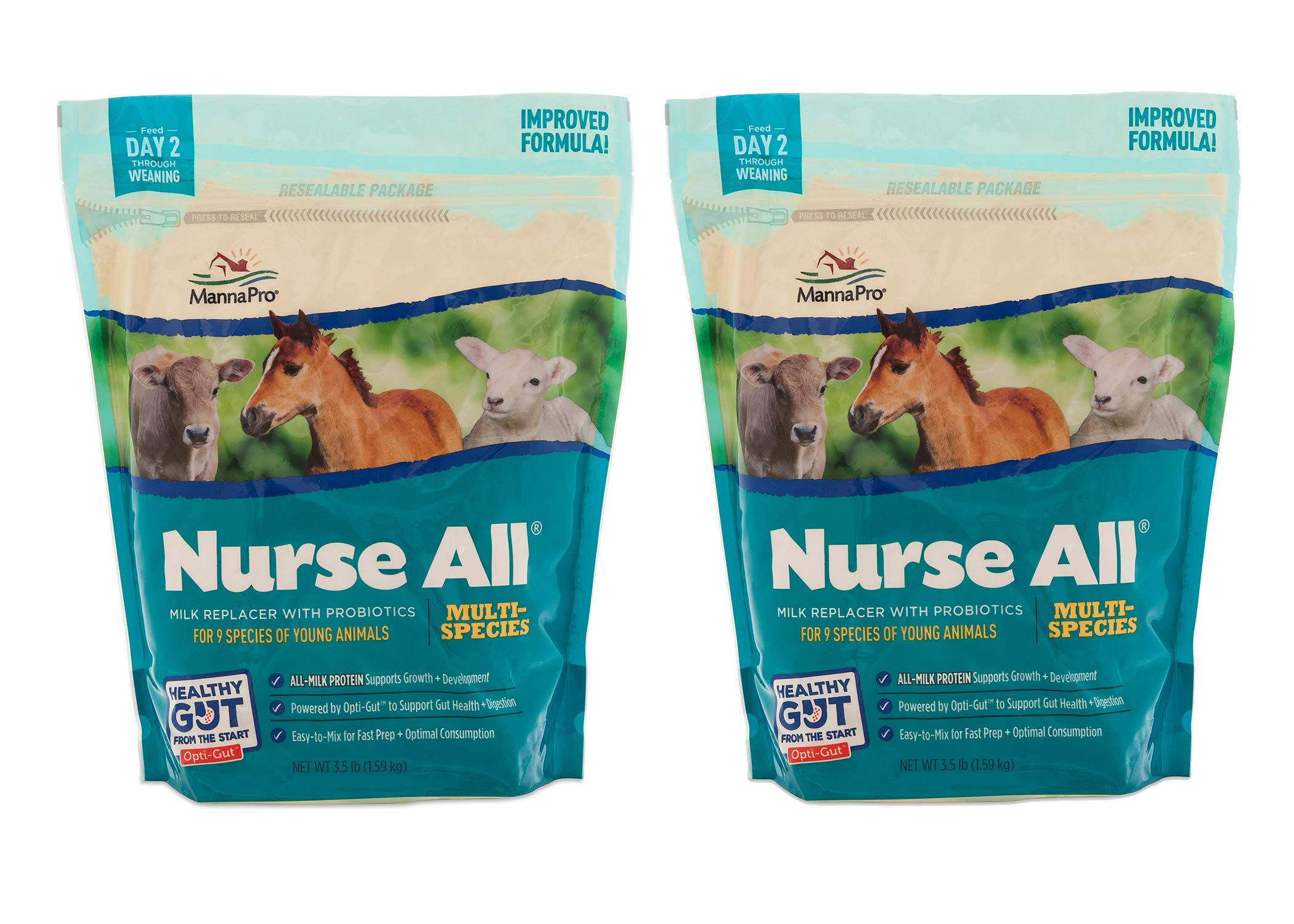 Manna Pro NurseAll Non-Medicated Milk Replacer, 3.5 lb (Pack of 2) by Manna Pro