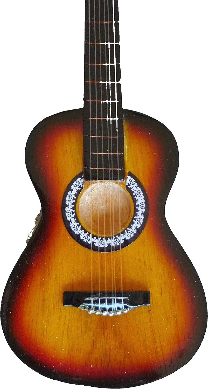 Guitarra en miniatura accustic Mini Guitar Guitarra decorativo hecho a mano madera 24cm Nr 113