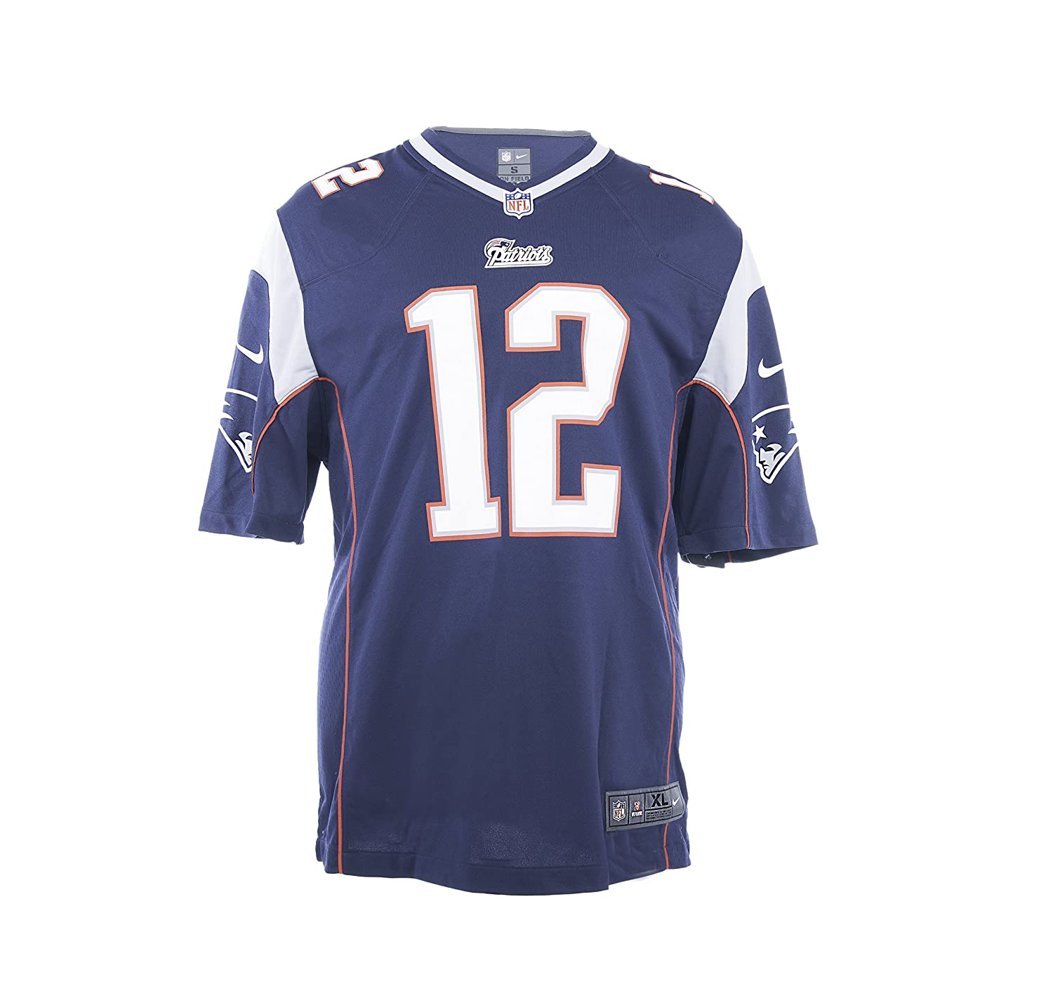 The Nike New England Patriots Tom Brady NFL Game Team Jersey College Navy/Wolf Grey Size XX-Large