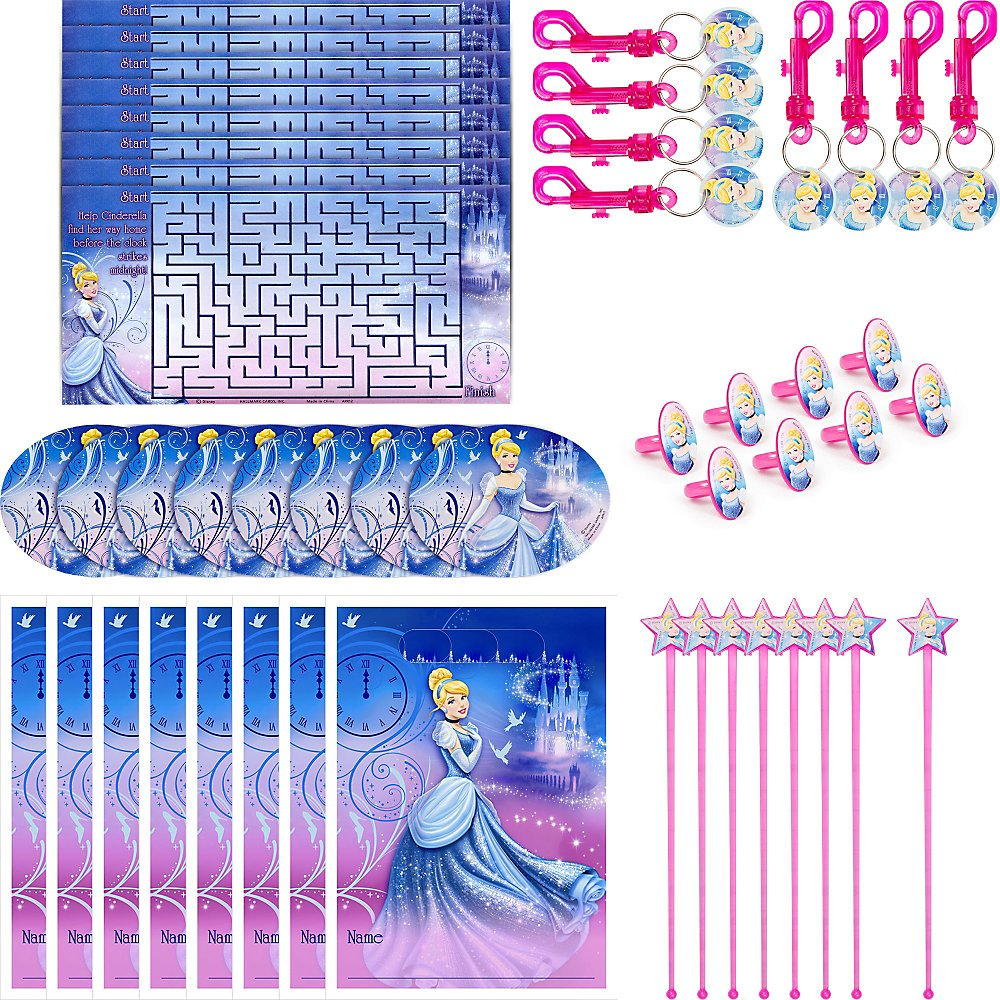 Hallmark Birthday Party Cinderella Party Favor Pack