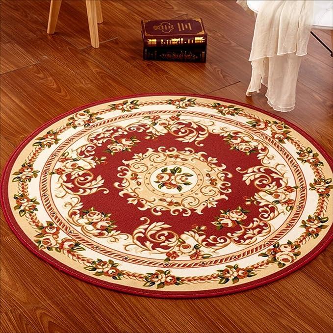MJB Alfombras Sinceridad Tradicional Alfombra Redonda Rojo ...