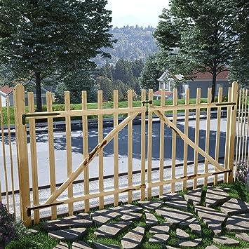 Puerta Doble para Valla,Puerta para su Jardín, Patio o Terraza 300x150 cm Madera de avellano: Amazon.es: Bricolaje y herramientas