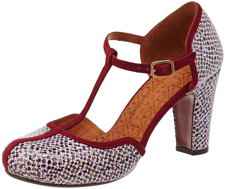 Chie Mihara Krisia, Zapatos con Tacon y Tira Vertical para Mujer