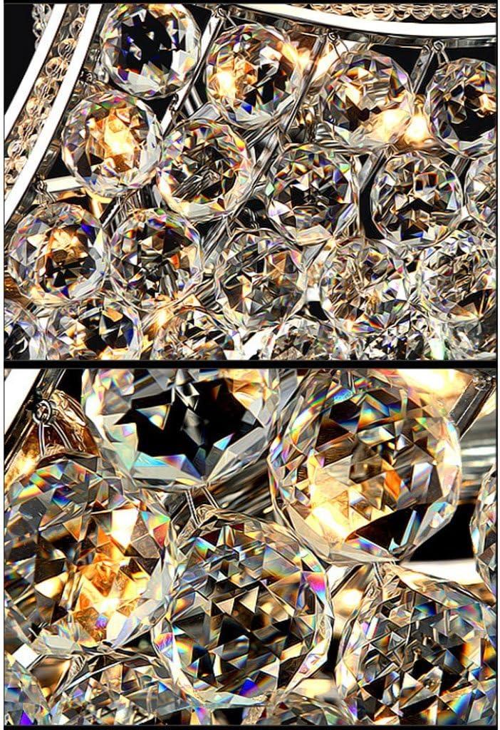 Lampadari Lampadario di cristallo moderno di lusso Ristorante romantico Soggiorno Lampada da soffitto Hotel Cafe Pendant Light Lampadari (Dimensione : 53cm-E27*5) 63.5cm-e14*6