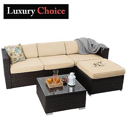 Amazon.com: PHI Villa - Juego de 3 muebles de exterior para ...