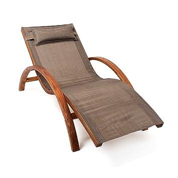 ampel 24 chaise longue de jardin tropica 170x70cm en bois de mlze - Chaise Longue Jardin