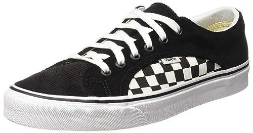 d7705bed8c Vans Unisex s Lampin (Checker Cord) Black True White Sneakers-10 UK