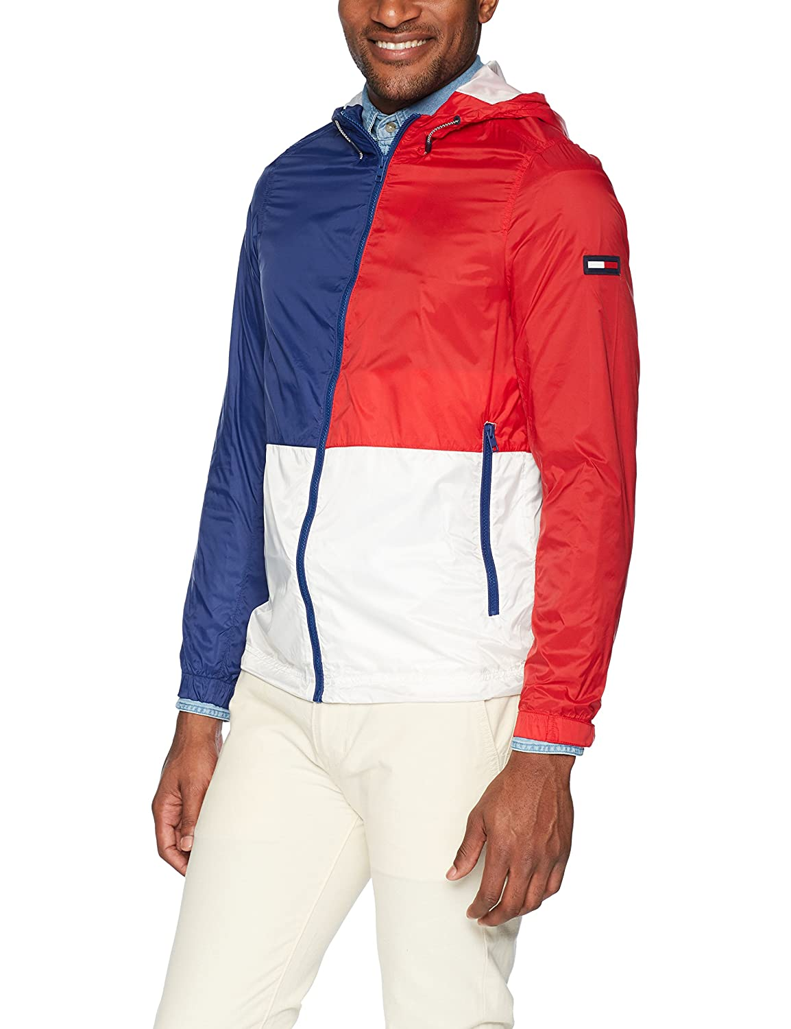 bc685128 Tommy Hilfiger Men's Jacket Lightweight Windbreaker at Amazon Men's  Clothing store: