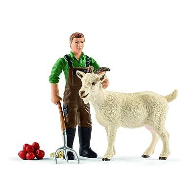 Schleich - Granjero con Cabra, Figuras (42375): Juguetes y juegos