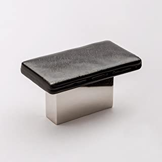 product image for Sietto K-1802-PN Sietto K-1802 Skyline 2 Inch Rectangular Cabinet Knob