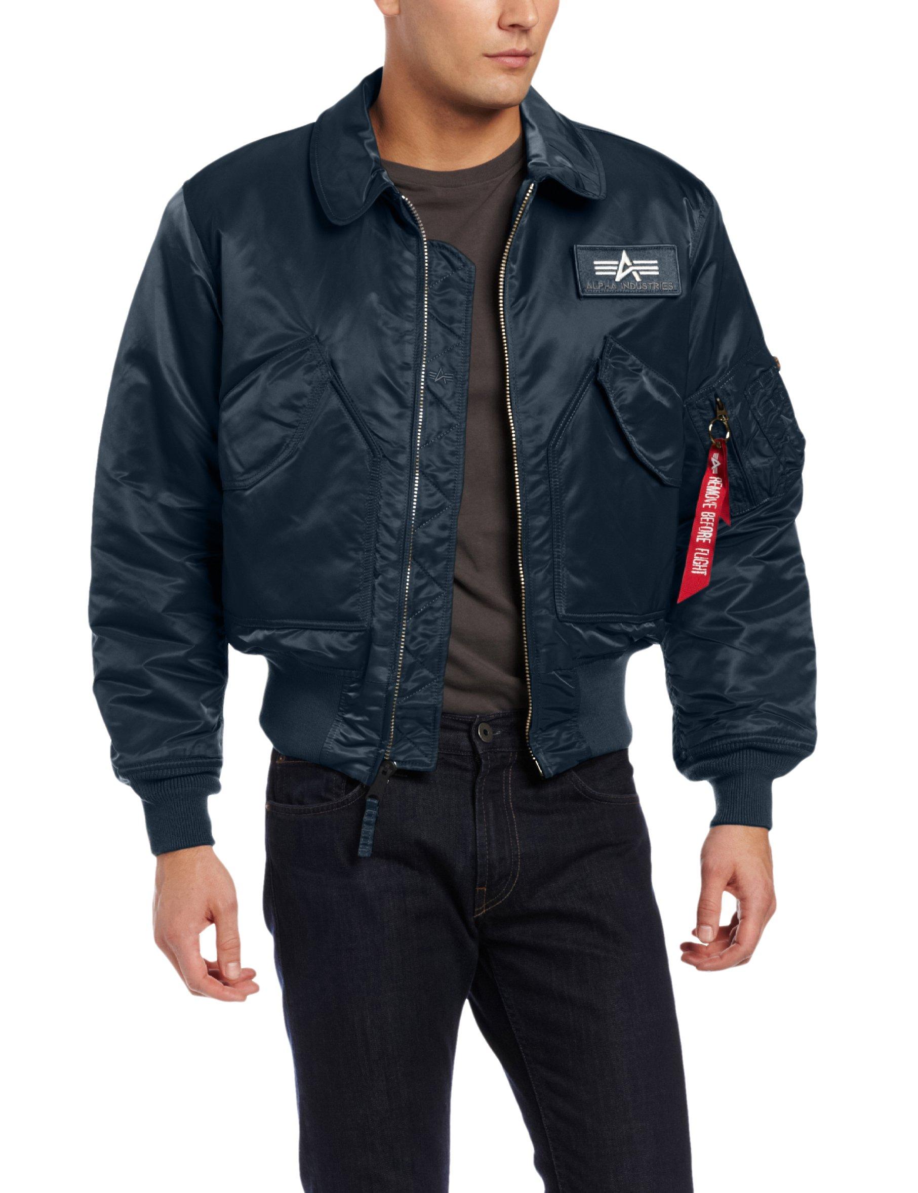 Alpha Industries Men's CWU 45/P Flight Jacket, Rep Blue, 5X-Large