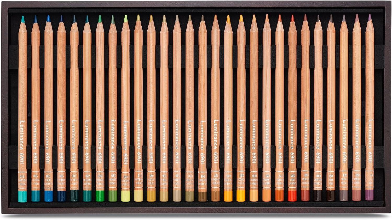 /76/couleurs 4/doubles assortiment de 80/crayons/ /Coffret en bois Caran dAche Luminance 6901/