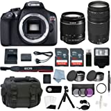 Canon EOS Rebel T6 Bundle With EF-S 18-55mm f/3.5-5.6 IS II & EF 75-300mm f/4-5.6 III Lens + Advanced Accessory Kit - Including EVERYTHING You Need To Get Started