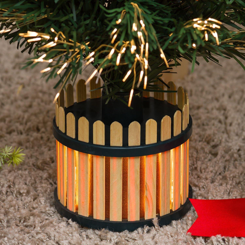 60 cm /árboles con Fibras /ópticas Fibras /ópticas Multicolor /árboles de Navidad Artificiales XMASKING /Árbol Artificial Verde l/ámpara 12 V 10 W