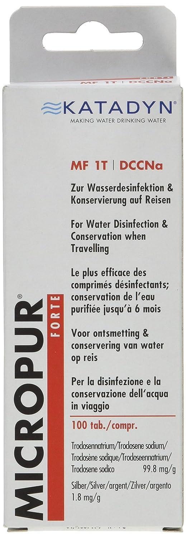 Katadyn Micropur Forte MF 1t tabletas de purificación de agua. 8016504