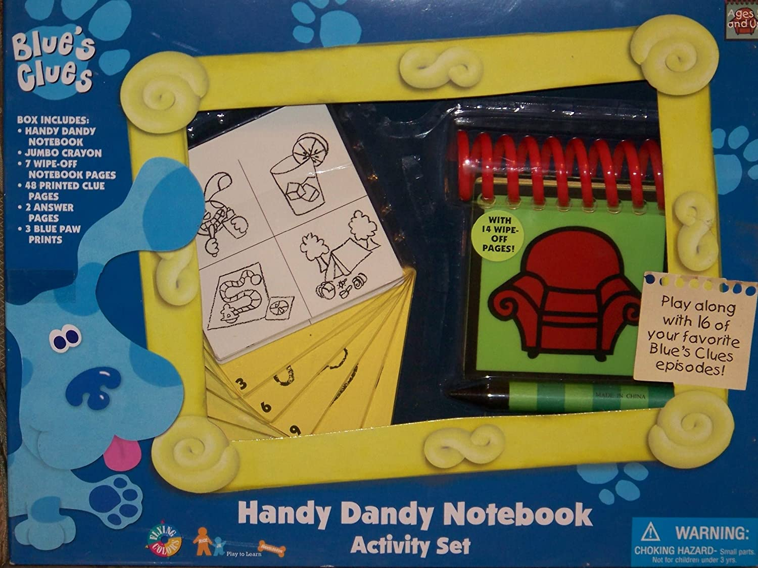 blue u0027s u0027 clues steve u0027s handy dandy notebook activity set amazon co