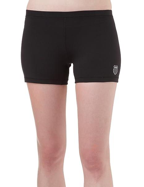 K-Swiss - Pantalones cortos de pádel para mujer, tamaño S, color negro: Amazon.es: Deportes y aire libre
