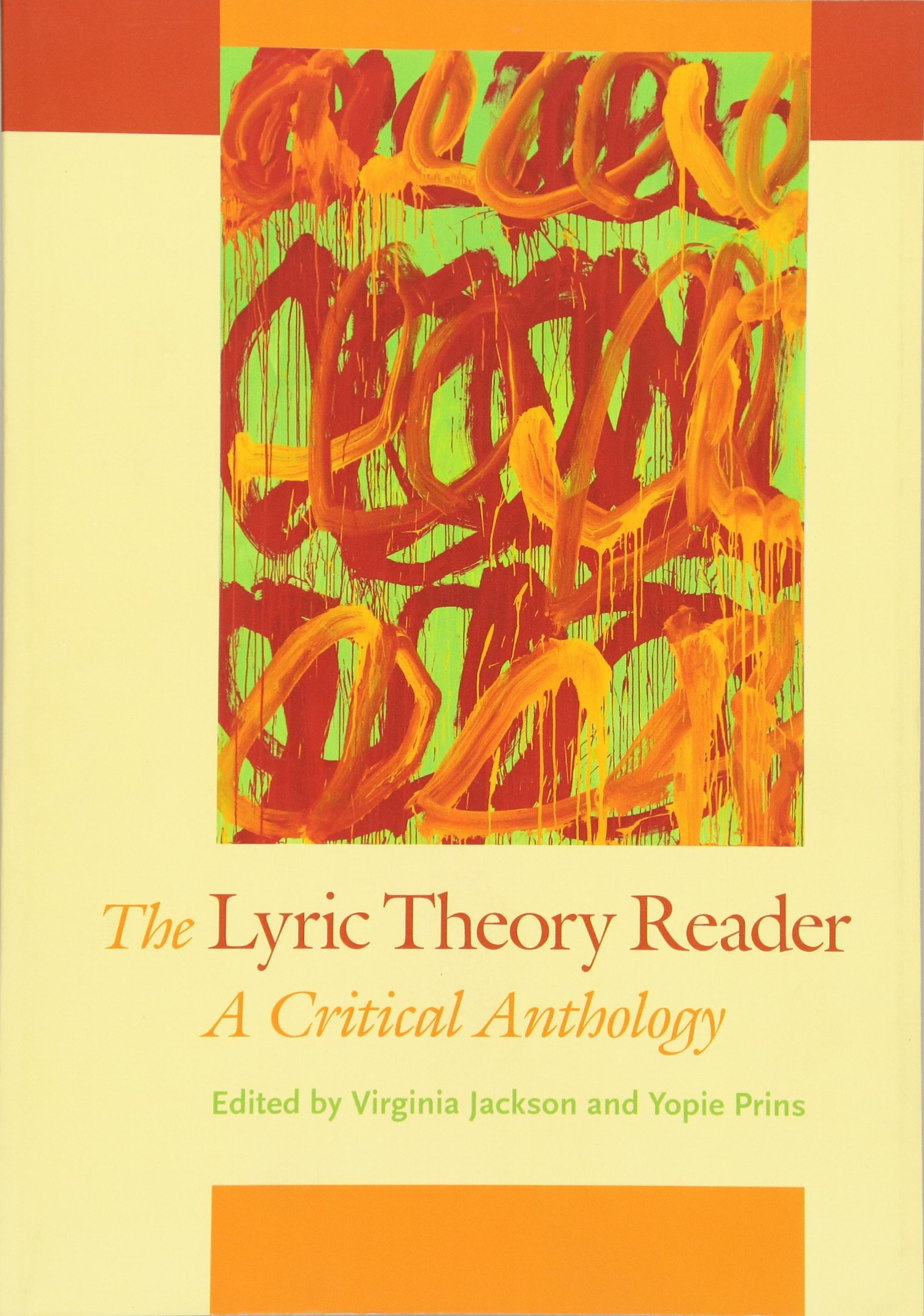 a8bf6b153eb07 The Lyric Theory Reader  A Critical Anthology Paperback – January 23