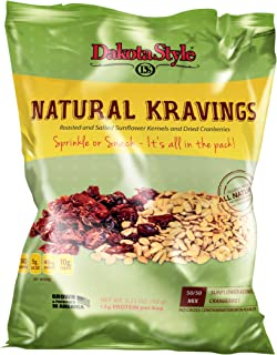 product image for Dakota Style Roasted & Salted Sunflower Natural Kernels combined with Dried Cranberries, 3.25 Ounce (Pack of 12)