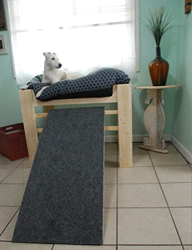 Dog Bed Platform, Handmade Wood Raised Dog Bed Furniture With Dog Ramp Or  Step,