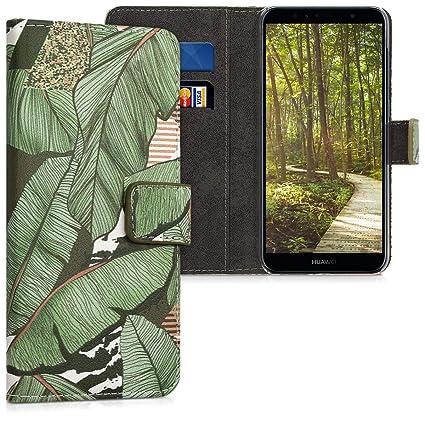 Amazon.com: kwmobile - Funda tipo cartera para Huawei Y6 ...