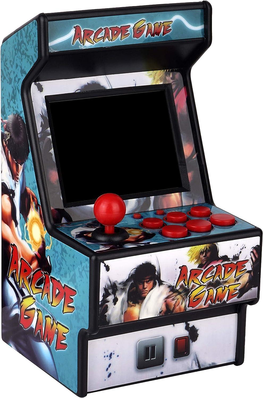 Golden Security Mini Arcade Game Machine RHAC01 156 Máquina portátil de Juegos portátiles clásicos para niños y Adultos con Pantalla Colorida de 2.8
