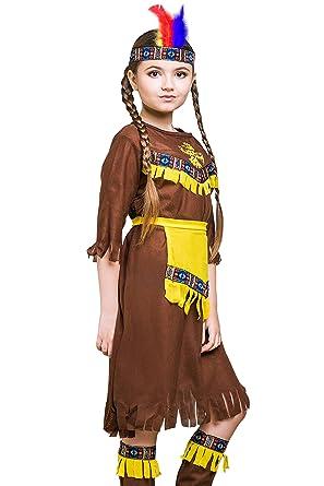 kids native american girl halloween costume indian princess dress up u0026 role play 8