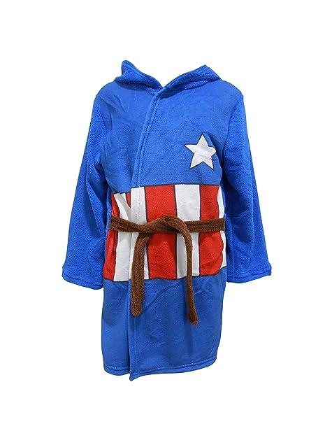 Captain america - Albornoz - para niño azul azul 4-5 Años: Amazon.es: Ropa y accesorios