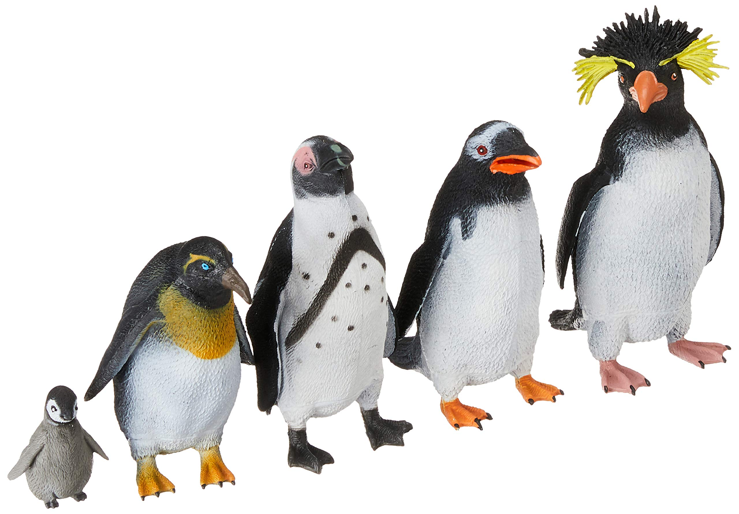 Wild Republic Penguin Polybag, Educational Toys, Kids Gifts, Arctic, Zoo Animals, Penguin Gifts, 5Piece