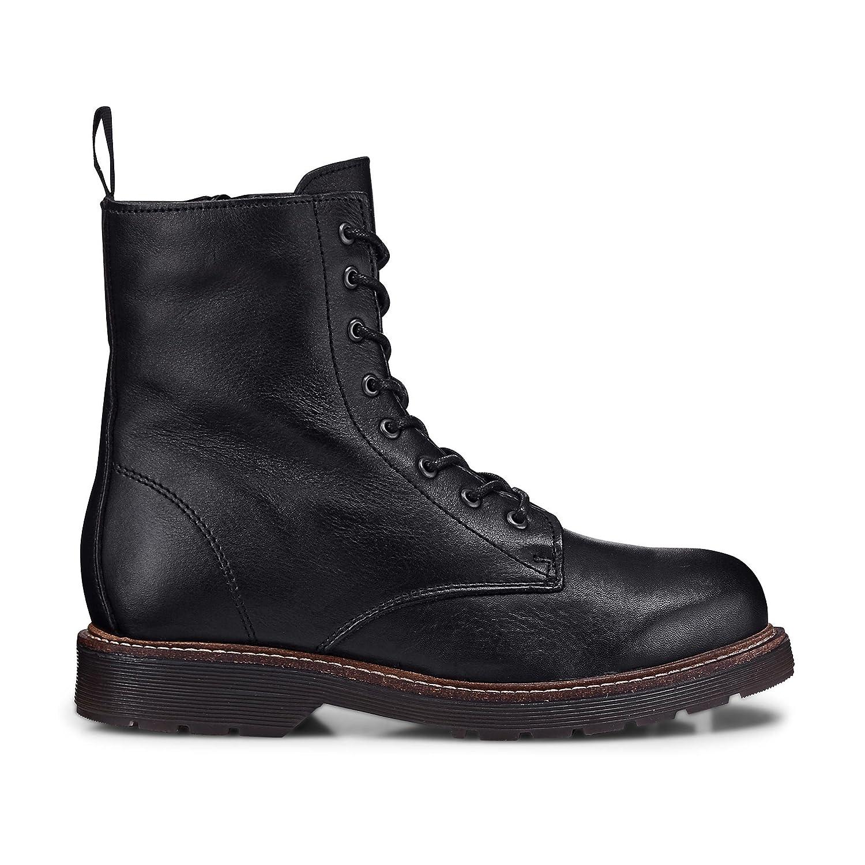 Another A Damen Damen Winter-Stiefel aus Leder, Damen-Stiefel in Schwarz mit kuschelig wärmendem Innen-Futter