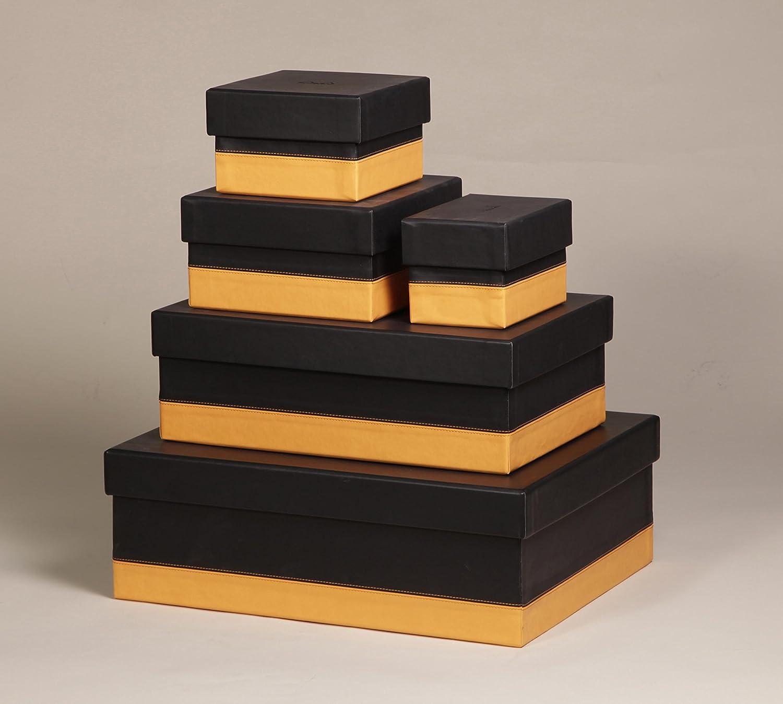 Clairefontaine Rhodiarama Set de 5 cajas anidadas (piel x sintética italiano 10 x (piel 15 x 10 cm/16 x 16 x 11 cm/20 x 20 x 11 cm/38 x 24 x 13 cm/44 x 34 x 16 cm Beige d7e212