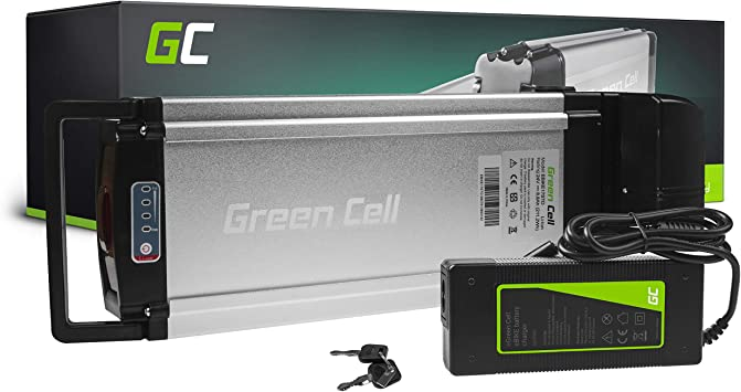 GC® Bateria Bicicleta Electrica 24V 8.8Ah Rear Rack Li-Ion E-Bike Batería y Cargador: Amazon.es: Electrónica