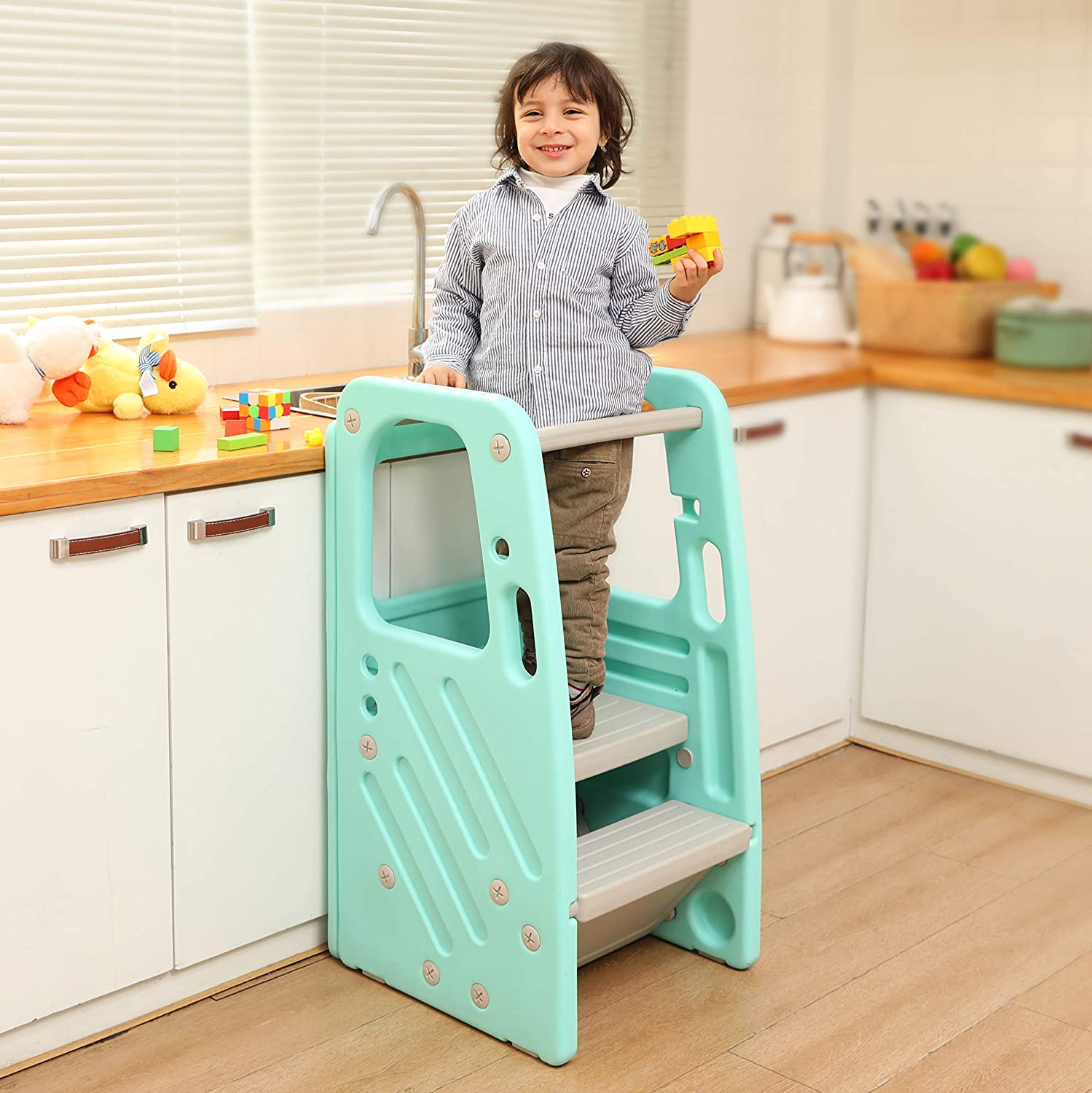 SDADI Childrens Step Stool with Colorado Springs Mall Three Heights Adjustable Green Limited Special Price