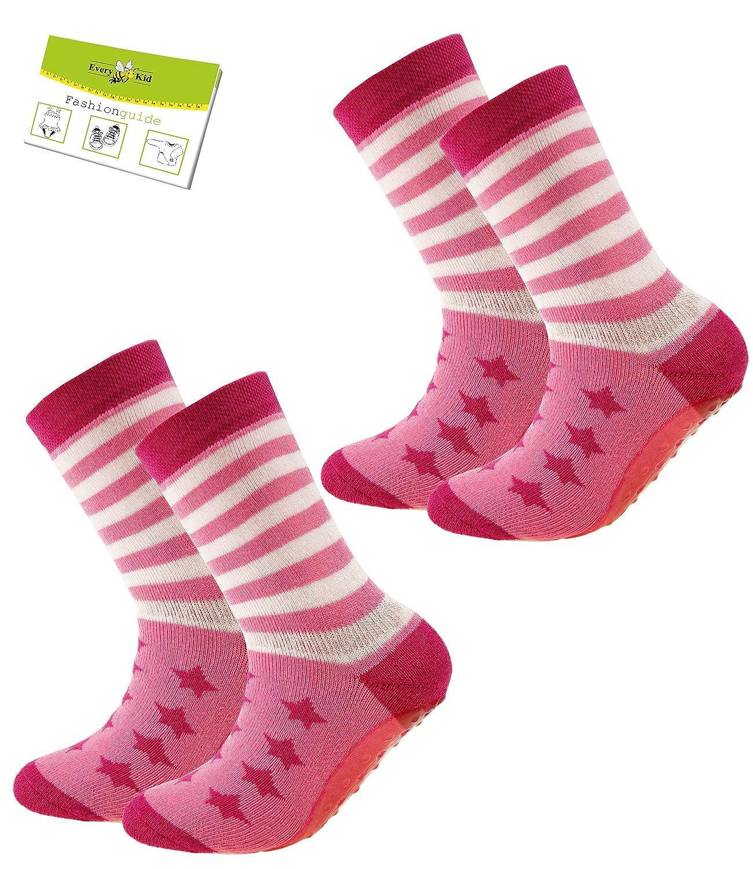 EveryKid Ewers 1er oder 2er Pack Mädchenstoppersocken Stoppersocken Jungensocken ABS Socken Antirutsch schadstofffrei Kinder (EW-27112-S17-MA4) inkl Fashionguide