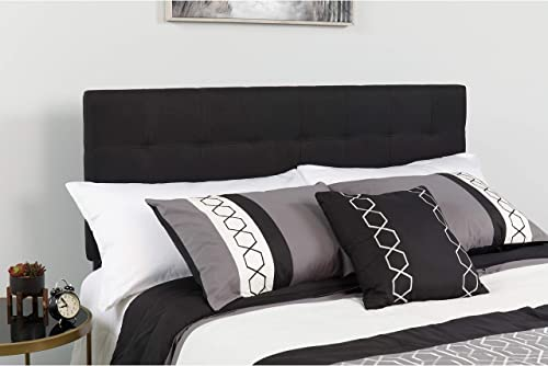 Flash Furniture Bedford Tufted Upholstered King Size Headboard in Black Fabric – HG-HB1704-K-BK-GG