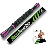 HERO FIT - マッサージローラー・スティック | トリガーポイント&筋筋膜リリース・ローリングマッスルマッサージャー 必須エクササイズガイド付き