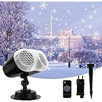 BACKTURE Luces de Proyector de Navidad, Proyector de Copos de Nieve Interior y Exterior, Rango proyección de 54m², IP65…