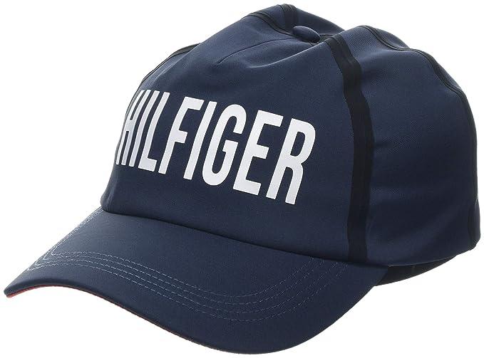 f15e6cca Tommy Hilfiger Men's Hilfiger Print Cap Baseball, Blue (Corporate 901), One  (