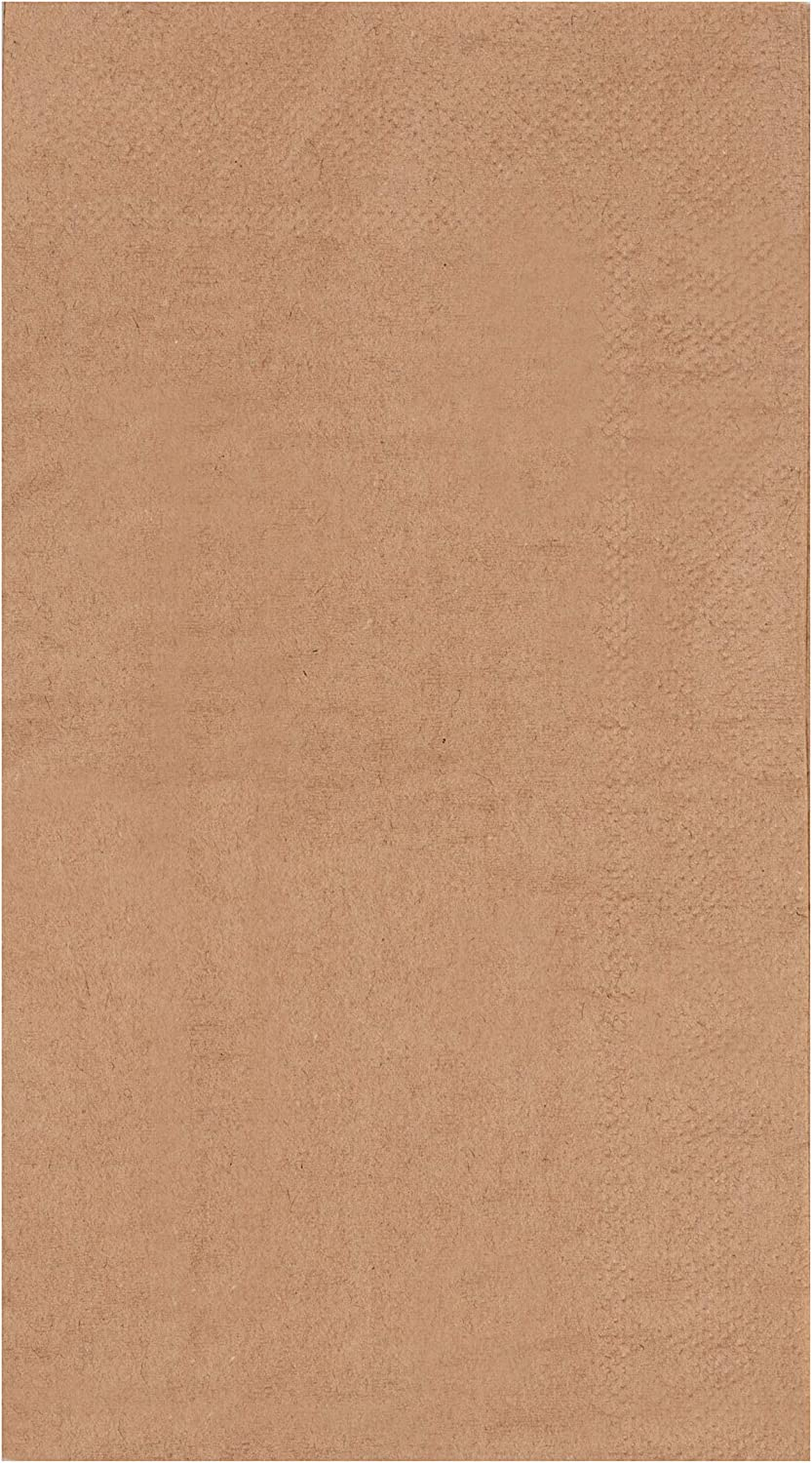 Kraft Party Supplies, Paper Napkins (Brown, 7.8 x 4.4 In, 200 Pack)