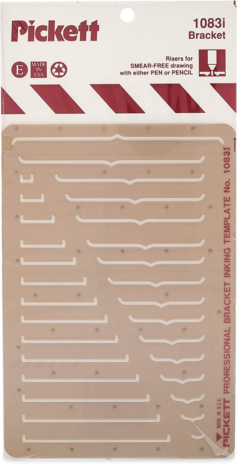Pickett Circle Indicator Template Range from 3//64 to 2 Inches in Diameter 1005PI