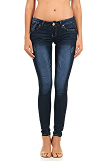 e93958c66e5 Cover Girl Five Pocket Classic Blue Wash Slim Fit Skinny Jeans Womens Plus Size  Juniors